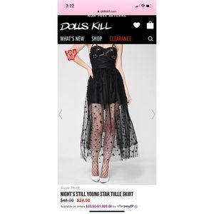 NWOT Semi Sheer Maxi Skirt